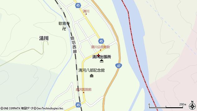 山形県東田川郡庄内町清川花崎4周辺の地図