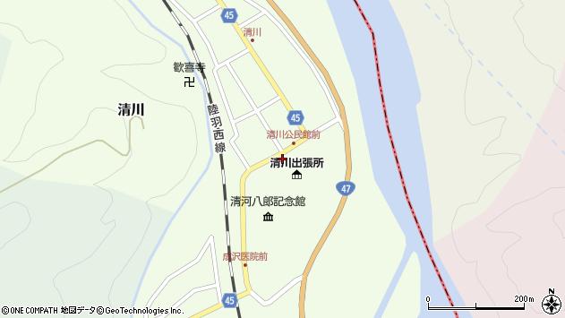 山形県東田川郡庄内町清川花崎5周辺の地図