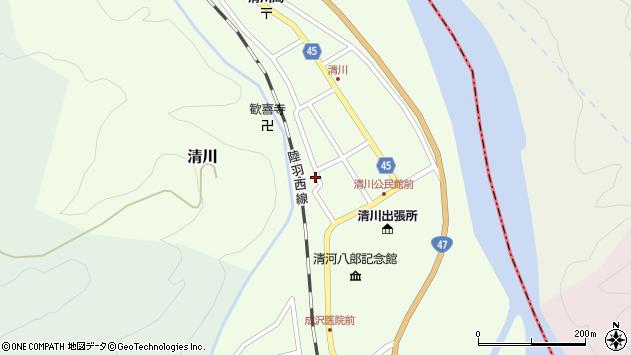 山形県東田川郡庄内町清川花崎141周辺の地図
