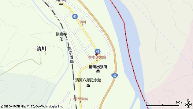 山形県東田川郡庄内町清川花崎42周辺の地図