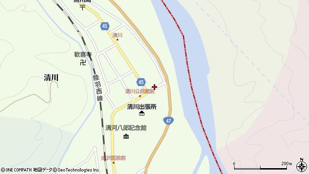 山形県東田川郡庄内町清川花崎47周辺の地図