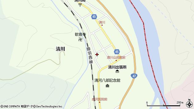 山形県東田川郡庄内町清川花崎140周辺の地図