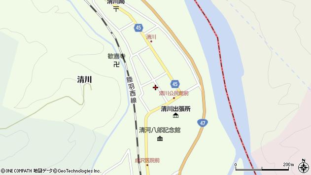 山形県東田川郡庄内町清川花崎29周辺の地図