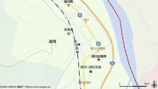 山形県東田川郡庄内町清川花崎149周辺の地図