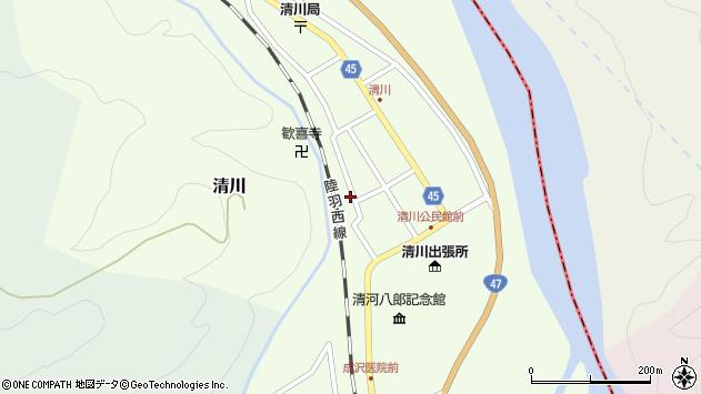 山形県東田川郡庄内町清川花崎150周辺の地図