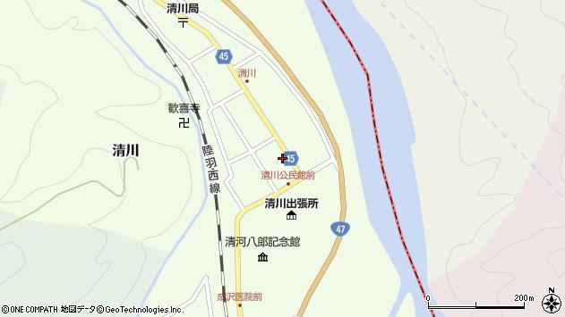 山形県東田川郡庄内町清川花崎39周辺の地図