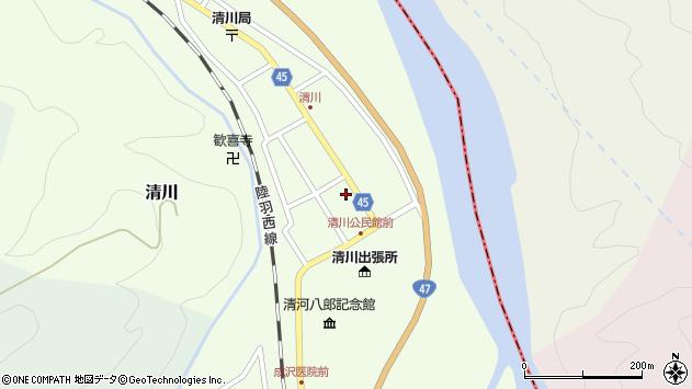 山形県東田川郡庄内町清川花崎37周辺の地図