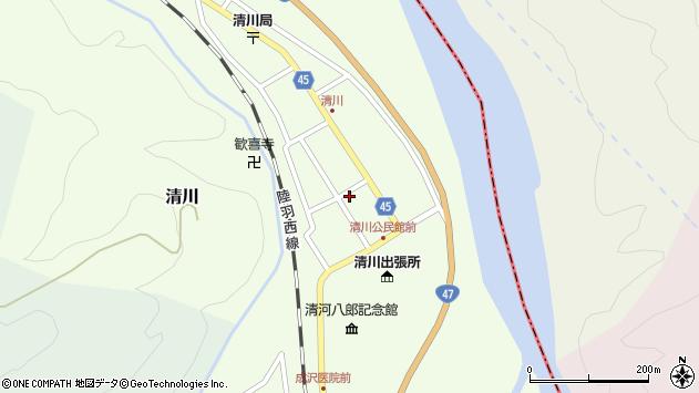 山形県東田川郡庄内町清川花崎32周辺の地図