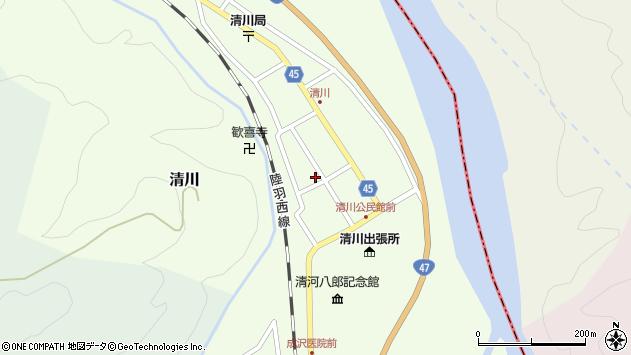 山形県東田川郡庄内町清川花崎102周辺の地図