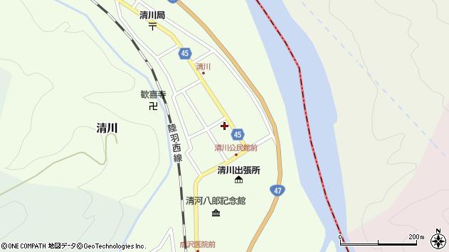 山形県東田川郡庄内町清川花崎33周辺の地図