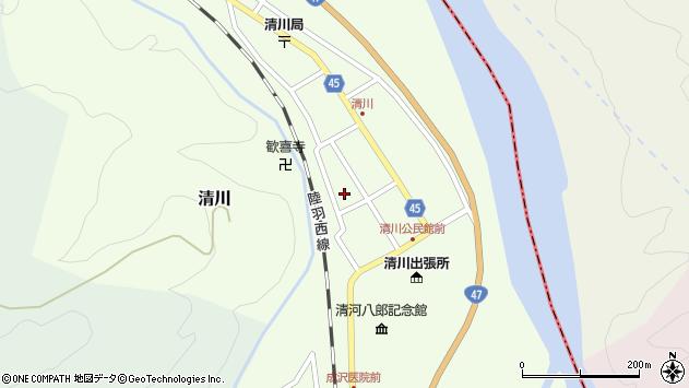山形県東田川郡庄内町清川花崎136周辺の地図