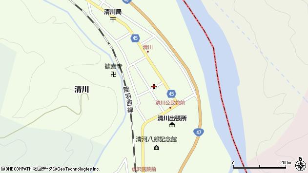 山形県東田川郡庄内町清川花崎99周辺の地図