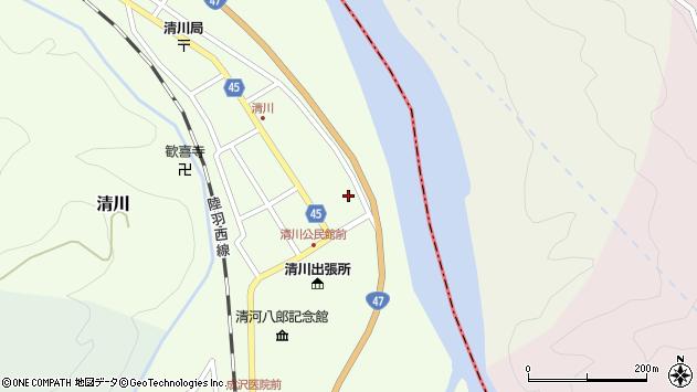 山形県東田川郡庄内町清川花崎51周辺の地図