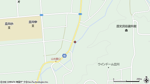 山形県東田川郡庄内町狩川阿古屋15周辺の地図