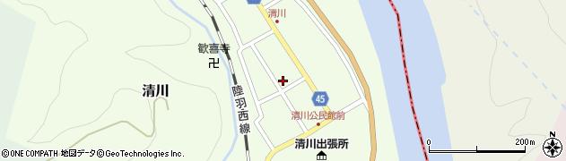 山形県東田川郡庄内町清川花崎104周辺の地図