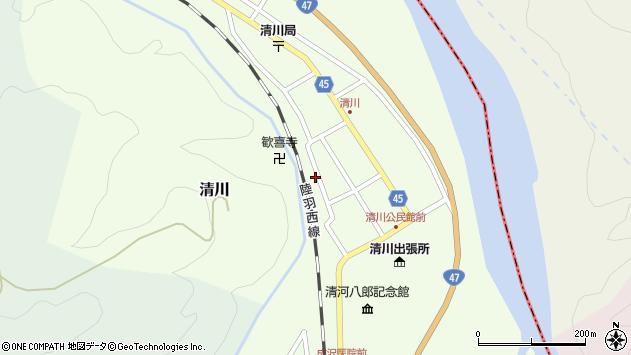 山形県東田川郡庄内町清川花崎157周辺の地図