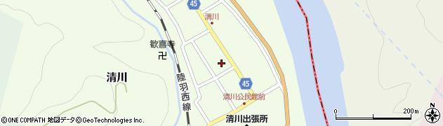 山形県東田川郡庄内町清川花崎96周辺の地図