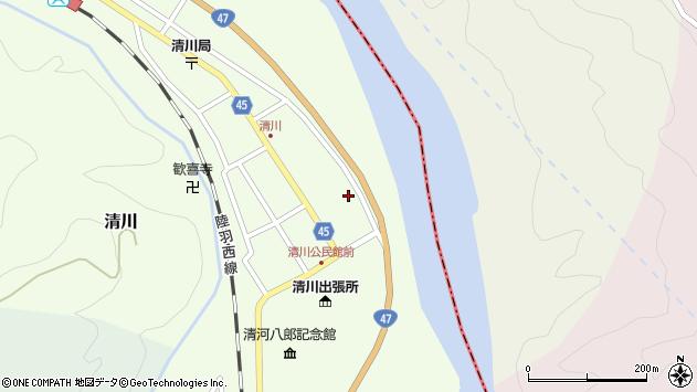 山形県東田川郡庄内町清川花崎35周辺の地図