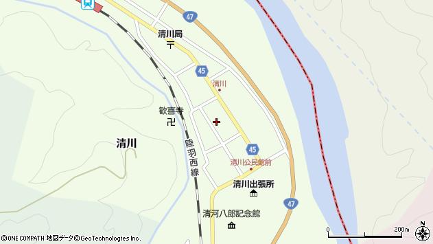 山形県東田川郡庄内町清川花崎107周辺の地図