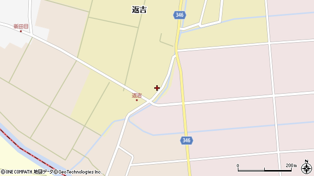 山形県東田川郡庄内町返吉高口周辺の地図