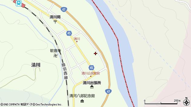 山形県東田川郡庄内町清川花崎56周辺の地図