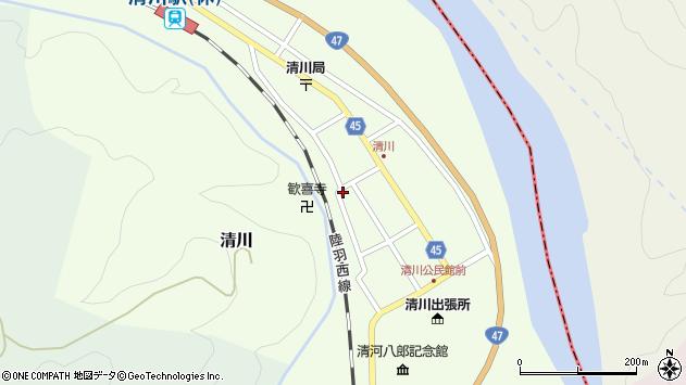 山形県東田川郡庄内町清川花崎122周辺の地図