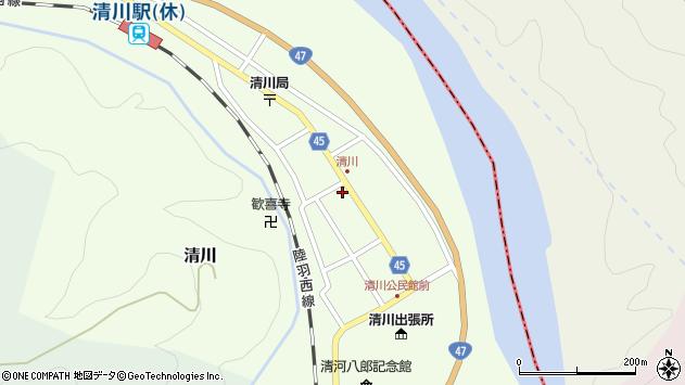 山形県東田川郡庄内町清川花崎84周辺の地図