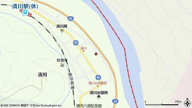 山形県東田川郡庄内町清川花崎59周辺の地図