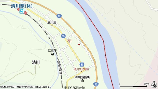 山形県東田川郡庄内町清川花崎61周辺の地図