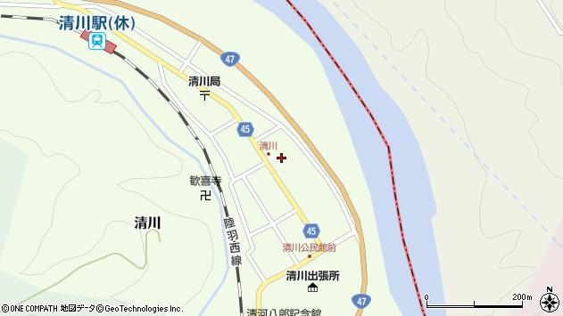 山形県東田川郡庄内町清川花崎85周辺の地図