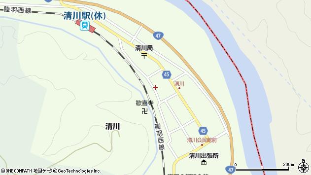 山形県東田川郡庄内町清川花崎180周辺の地図