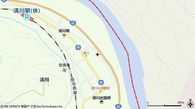 山形県東田川郡庄内町清川花崎63周辺の地図