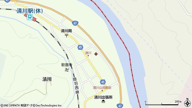 山形県東田川郡庄内町清川花崎64周辺の地図