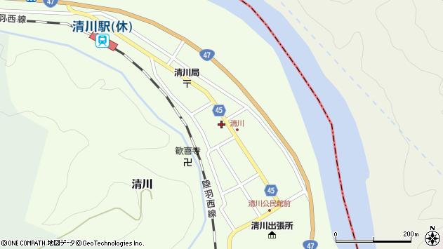 山形県東田川郡庄内町清川花崎73周辺の地図