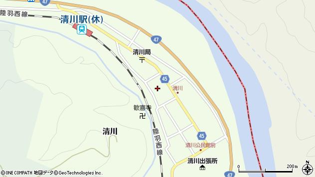 山形県東田川郡庄内町清川花崎179周辺の地図