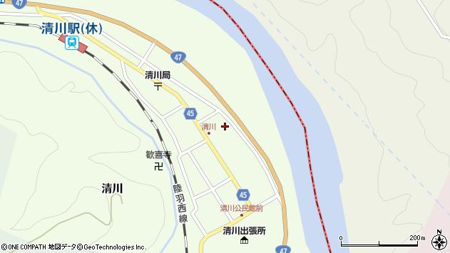 山形県東田川郡庄内町清川花崎66周辺の地図
