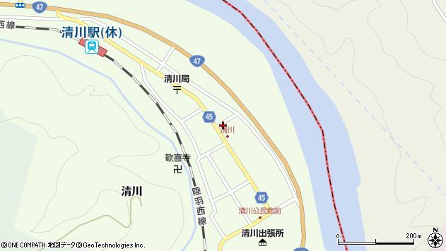 山形県東田川郡庄内町清川花崎72周辺の地図