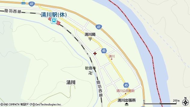 山形県東田川郡庄内町清川花崎173周辺の地図