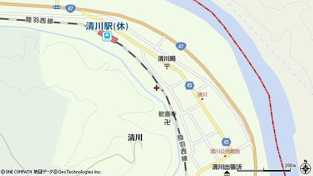 山形県東田川郡庄内町清川花崎225周辺の地図
