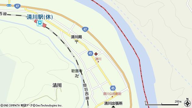 山形県東田川郡庄内町清川花崎182周辺の地図