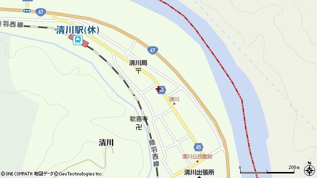 山形県東田川郡庄内町清川花崎176周辺の地図