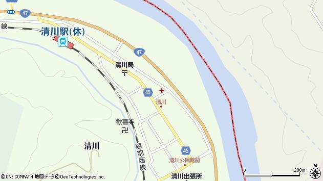 山形県東田川郡庄内町清川花崎183周辺の地図