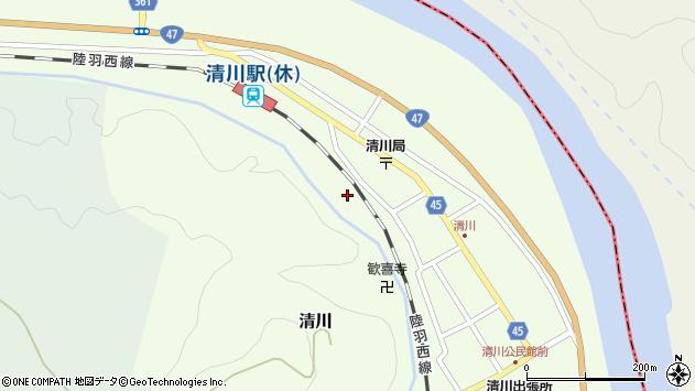 山形県東田川郡庄内町清川花崎224周辺の地図