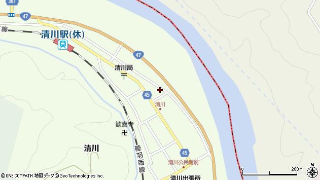 山形県東田川郡庄内町清川花崎184周辺の地図