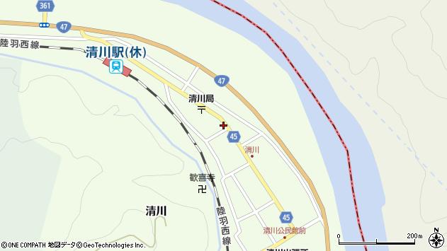 山形県東田川郡庄内町清川花崎199周辺の地図