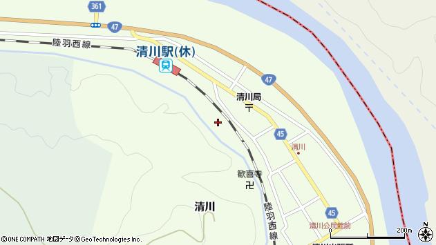 山形県東田川郡庄内町清川花崎222周辺の地図