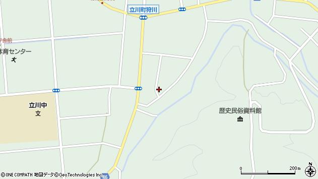 山形県東田川郡庄内町狩川阿古屋周辺の地図