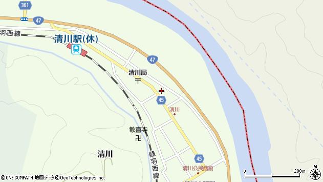 山形県東田川郡庄内町清川花崎191周辺の地図