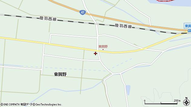 山形県東田川郡庄内町狩川東興野2周辺の地図