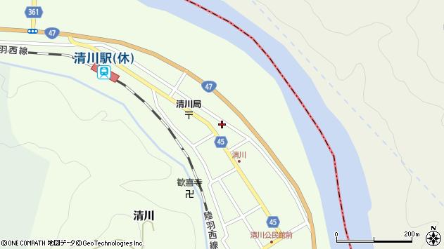 山形県東田川郡庄内町清川花崎194周辺の地図